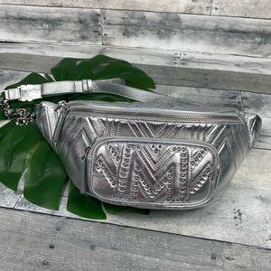 MCM silver belt waist bag fanny